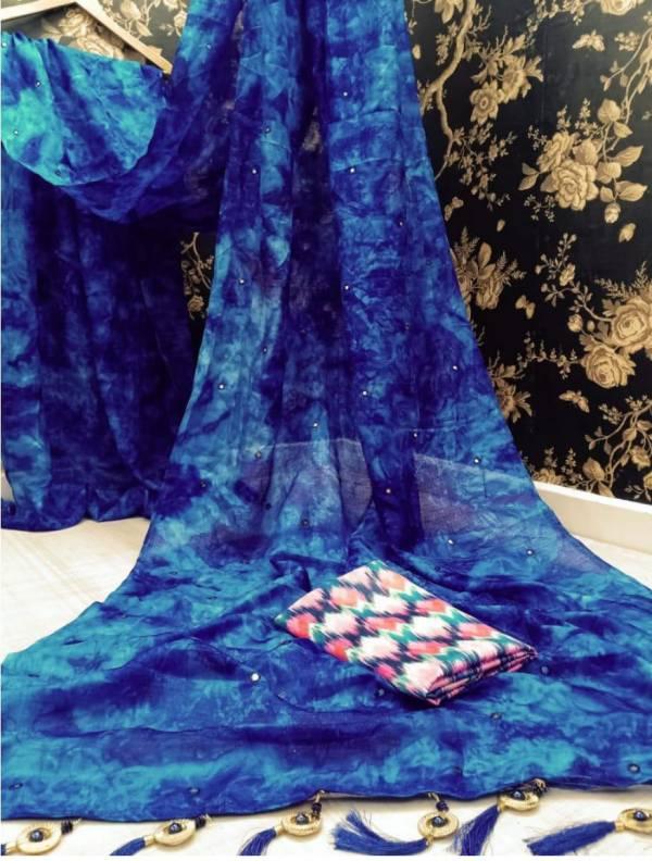 Manokamna Trendz Mehak Series 001-006 Khadi Silk With Prisma Printed With Mirror Work Daily Wear Sarees Collection