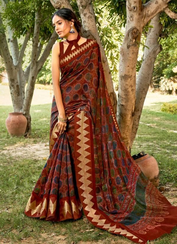 LT Fashion Preksha Series 24001-24010 Linen Silk With Satin Zari Patta Latest Designer Party Wear Sarees Collection