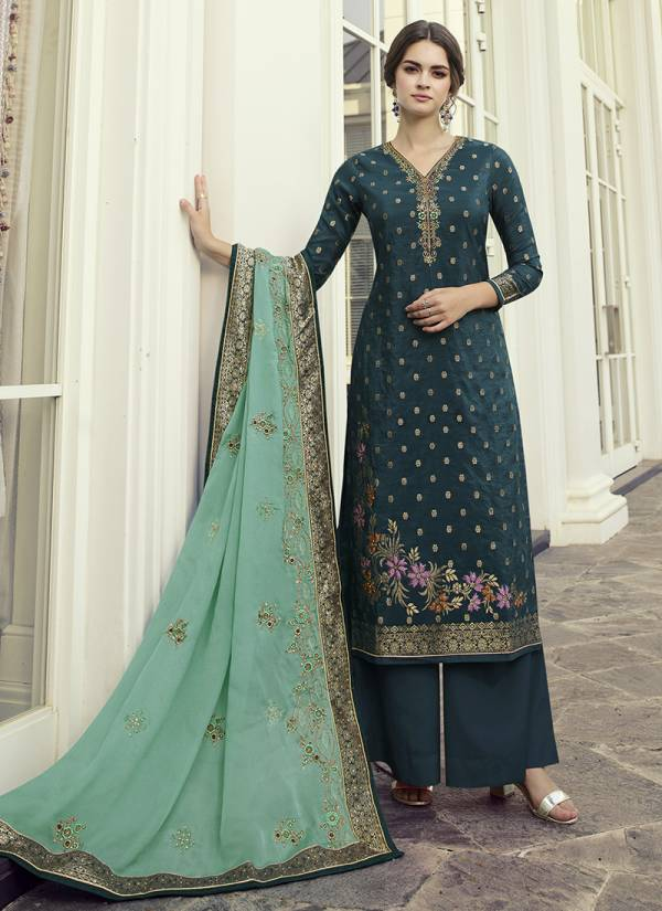 Amirah Haseen Vol 2 Viscose Dola Multi Work With Hand Work Palazzo Suits Collection