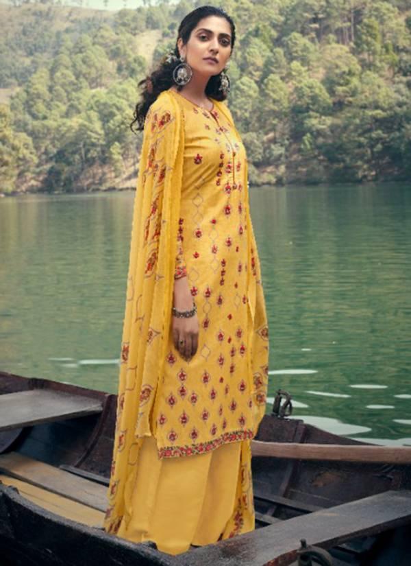 Belliza Designer Festive Fusion Cotton Digital print Palazzo Suit Collection