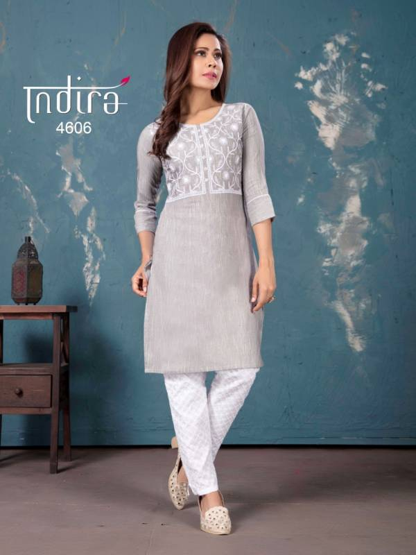 Indira Apparel The Spring Vol 2 Cotton With Heavy Embroidery Work Kurtis With Pants Collection