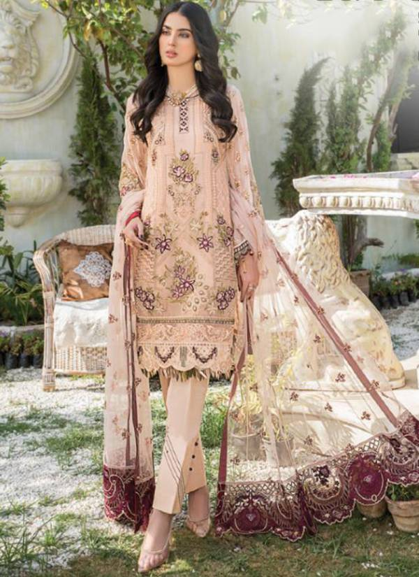 Rinaz Fashion Maryam's Gold Vol -10 Fox Georgette With Heavy Embroidery and Diamond Work Pakistani Suits Collection