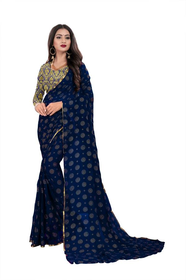 Chirag Chakri 2 Series 01-05 Chiffon Nazneen With Foil Printed New Fancy Sarees  For Women Collection 1