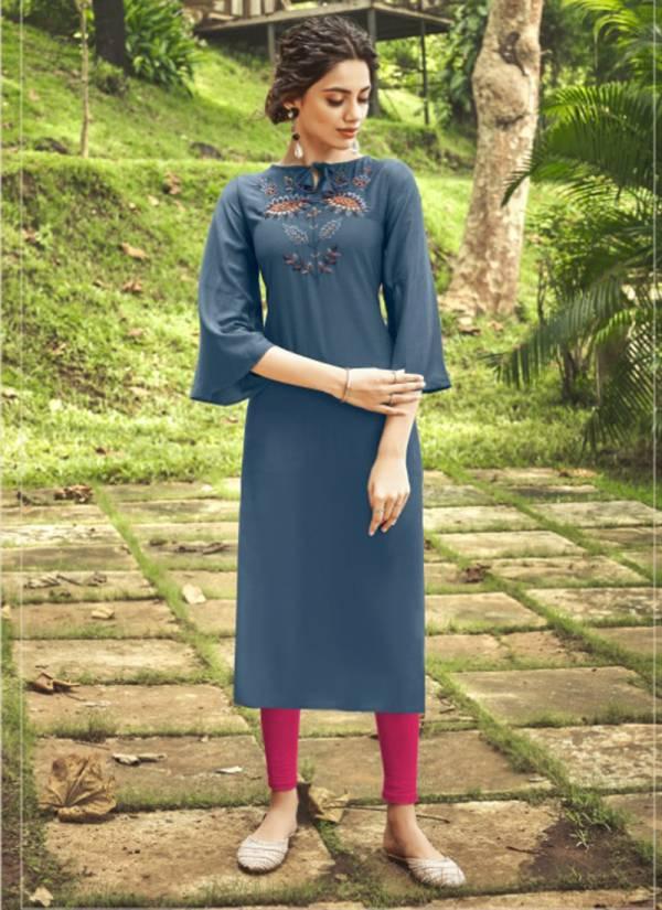 Nitisha Nx Viva Vol 5 Series 5001-5011 Heavy Soft Cotton Slub With Fancy Embroidery Work Kurti Collection