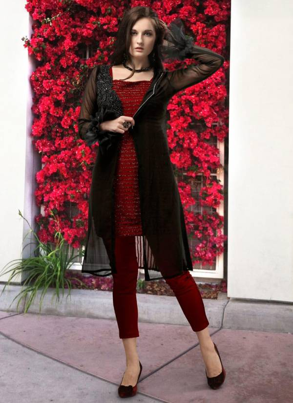Studio Libas Inaya Series 01-03 Pure Georgette Latest Designer Fancy Jackets With Inner And Pants Collection