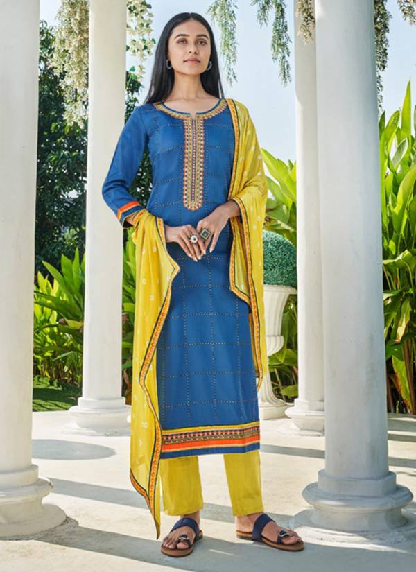 Kessi Fabric Panch Ratna Mohini Series 11091-11095 Jam Silk Casual Wear & Festival Wear Straight Suits Collection With Chinnon Bandhej Dupatta