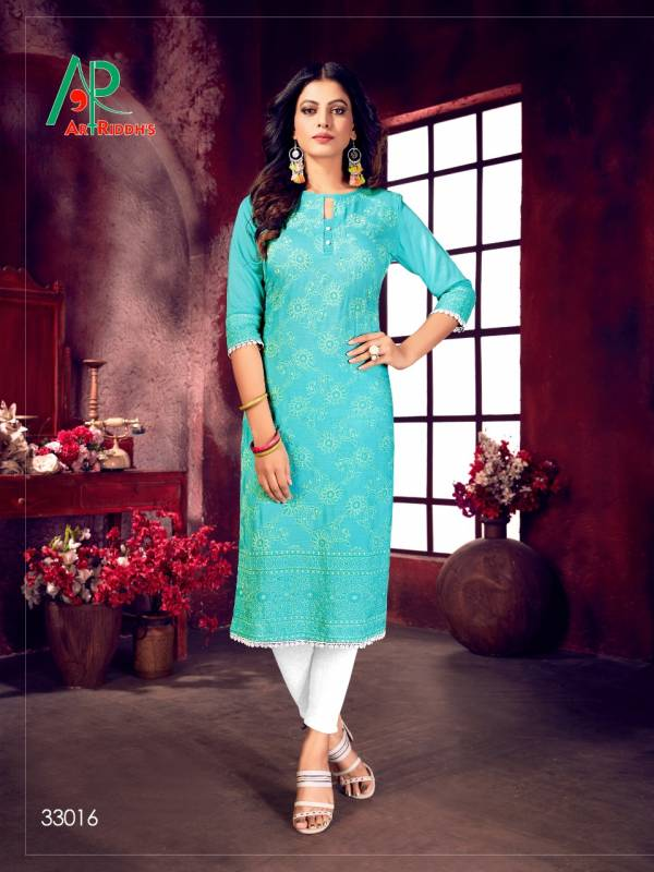 Bipson Mall Culture Series 33013-33020 Rayon Slub With Lucknowi Style Structure Printed New Fancy Kurtis Collection