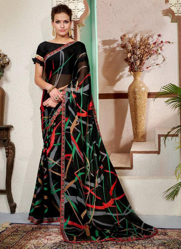 Mintorsi Kriva Series 15161-15168 Cadbary Chiffon Georgette With Exclusive Embroidery New Designer Daily Wear Sarees Collection