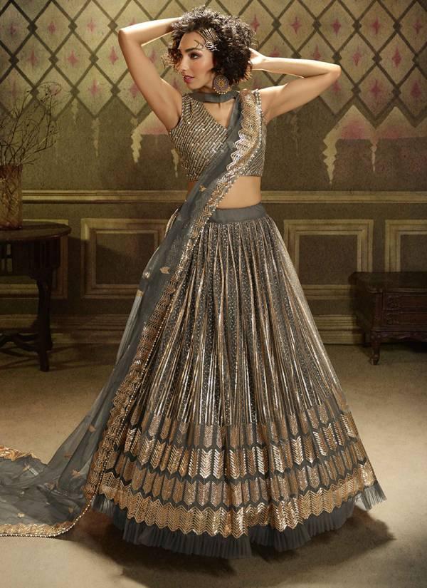 Arya Designs Cinderella Vol 9 Series 5001-5005 Soft Net With Stylish Sequins Work Exclusive Designer Glamorous Look Lehenga Cholis Collection
