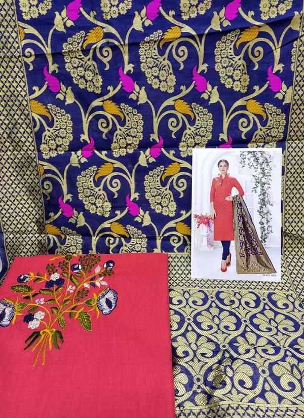 Rahul NX Panipuri Meenakari Series 1PM-8PM Cotton Flex Handloom Work Designer Suits Collection