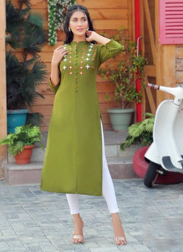 PK Fashion Cloud Vol 1 Series 1001PF-1006PF Rayon With Fancy Work Fancy New Designer Office Wear Stylish Kurtis Collection