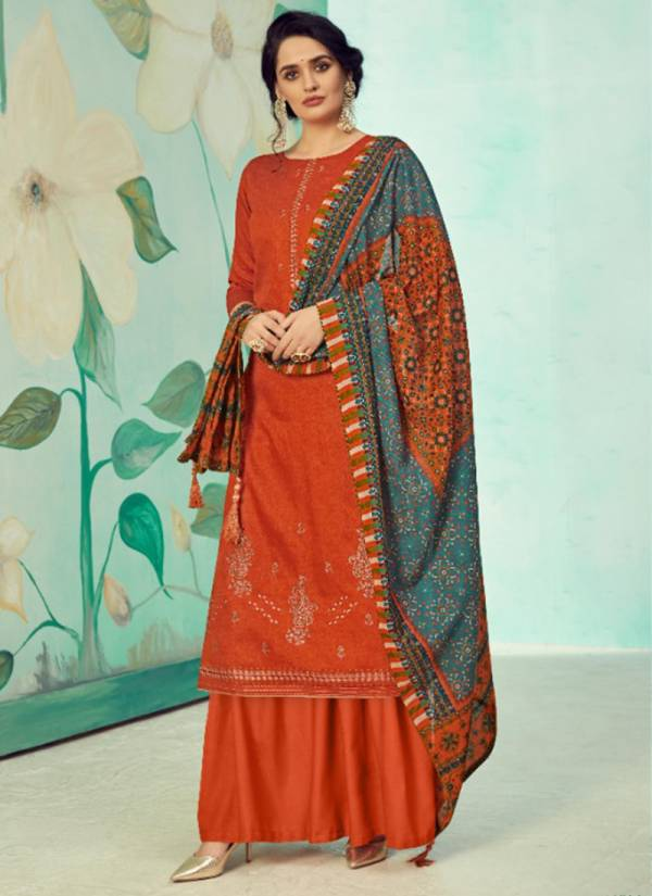 Alok Suit Jannat Pure Jam Cotton Self Print With Fancy Embroidery & Swarovski Diamond Worked Designer Suit Collection
