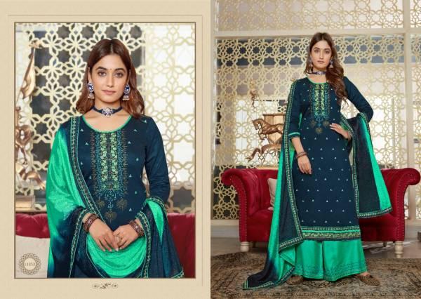 KVS Poshak Jam Silk With Swarovski Work Festival Wear Suits Collection