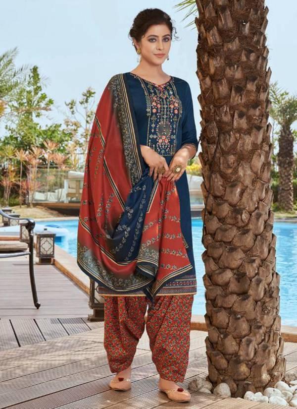 Kalaroop Patiyala Express Vol 6 Series 12230-12237 Jam Silk With Embroidery Work Latest Designer Casual Wear Readymade Patiyala Suits Collection