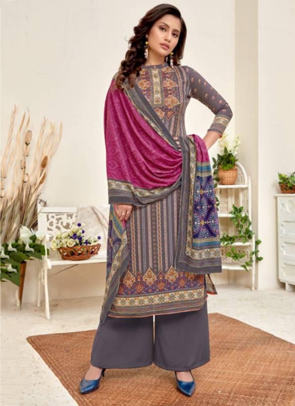 Bipson Shaneel 3 Series 1178-1181 Woollen Pashmina Digital Print New Designer Suits Collection