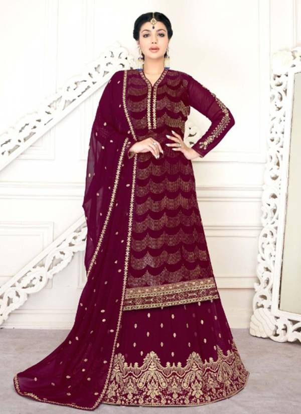 Lavina Vol 118 Series 118A-118D Russian Silk Sequins Embroidery Work Lehenga Suits Collection