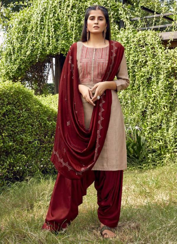 Kalaroop Arties Patiyala Vol 5 Series 12151-12158 Flex Rayon With Stylish Embroidery Work New Designer Punjabi Readymade Suits Collection