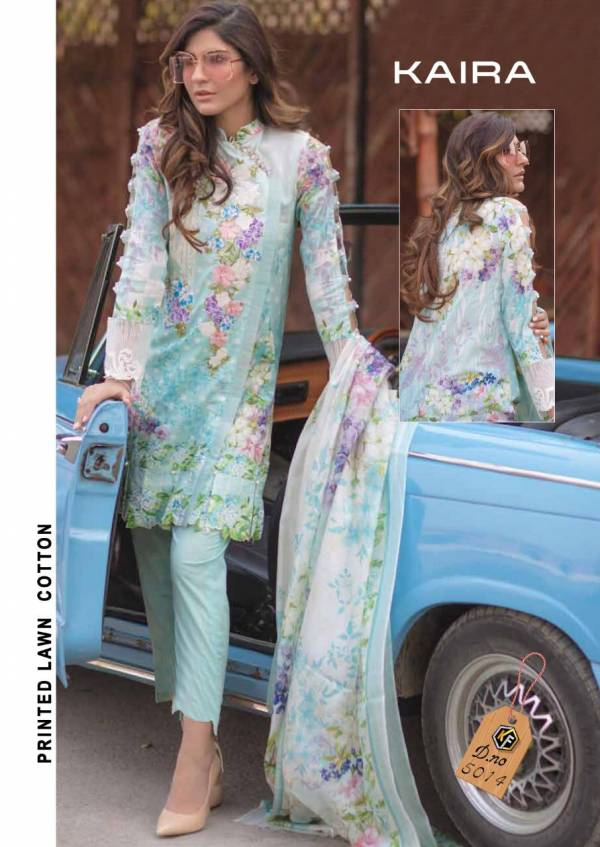 Keval Fab Kaira Luxury Series 5011-5014 Pure Lawn Cotton With Printed Ramzan Eid Special Pakistani Suits Collection
