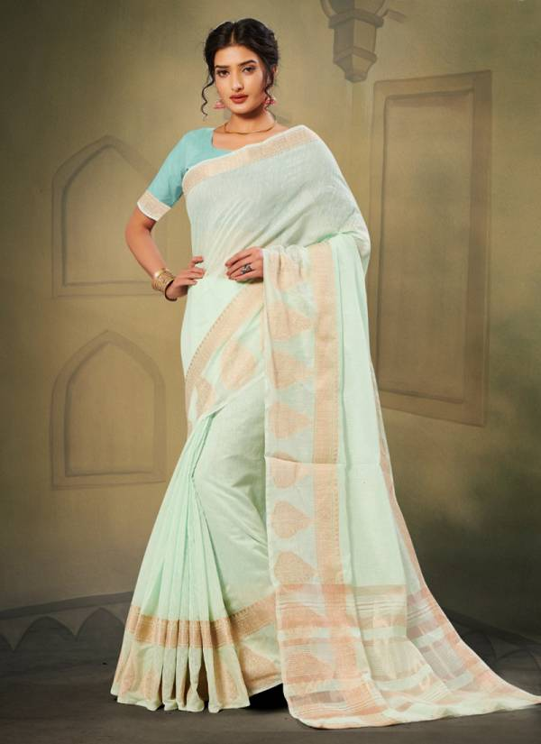 Mintorsi Meera Series 23041-23048 Cotton Silk With Jacquard Weaving Border Work Latest Designer Sarees Collection