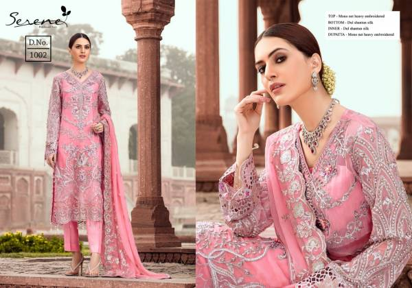 Serene Zarqoon Series 1001-1005 Faux Georgette Wedding Wear Designer Pakistani Suits Collection