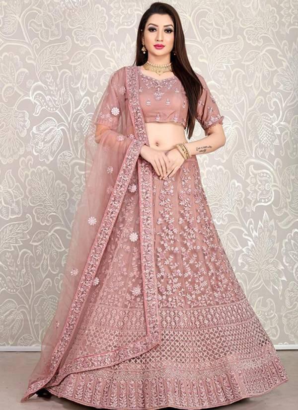 Anjani Art Prasang Vol 2 Series AA10032-AA10038 Net,Crepe & Georgette Heavy ace Border With Butti Work Party & Wedding Wear