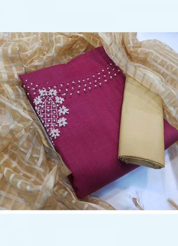 Shree Bherav Suits Series SC-1-SC-5 Slub Cotton With Stylish Hand Work Latest Designer Traditional Wear Salwar Suits Collection