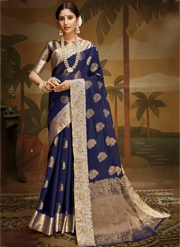 Shakunt Raag Art Silk Fancy Hand Work Wedding Wear Designer Sarees Collection