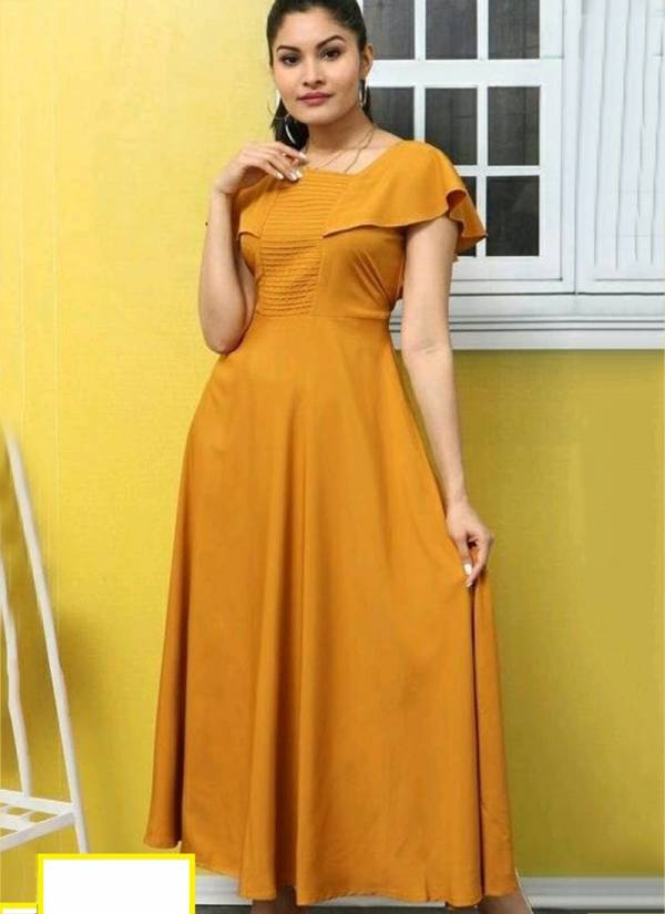 Velentino Trend Series VD01-VD05 Fancy Crepe Latest Designer Embellished Long Gown Style Kurtis Collection