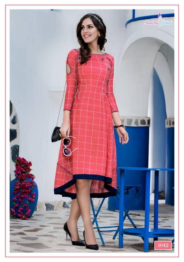 Manisha Fashion Mehar Rayon With Designer Stylish Printed Kurti Collection