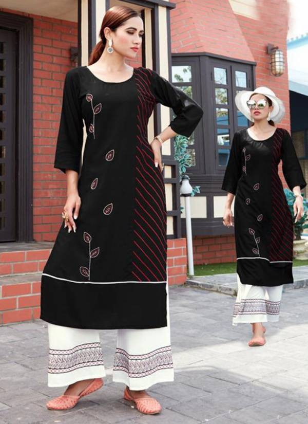 Fashion Valley Dress Jalwa Vol 1 Series 101FV-108FV Rayon With Fancy Embroidery Work Kurti With Palazzo Collection