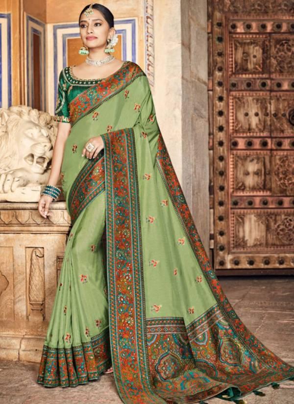 Nakkashi Resham Sarees Series 4180-4188 Designer Dola Silk Having Kashmiri Brocade Festival Wear Sarees Collection