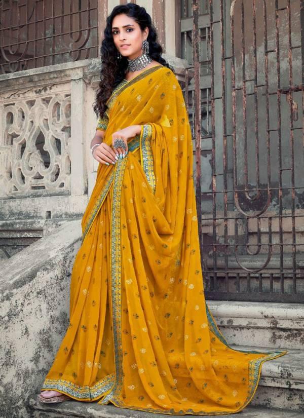 Redolence Soundarya Makhmali Jaipuri georgette Party Wear Designer Sarees Collection