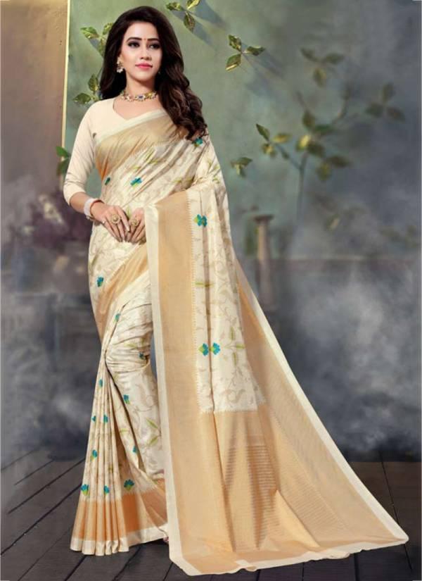 Sangam Infotech Manipuri Silk Series SM1001-SM1008 Cotton With Foil Print Casual Wear Sarees Collection