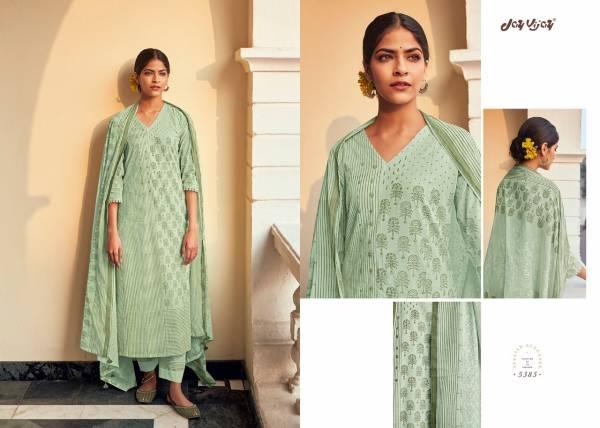 Jay Vijay Surahi Pure Cotton Block Print Hand Work Salwar Suit Collections