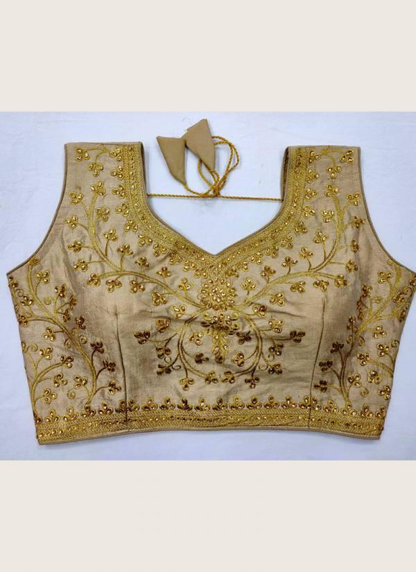 Ruhi Fashion Golden Zari Work Readymade Blouse Collection