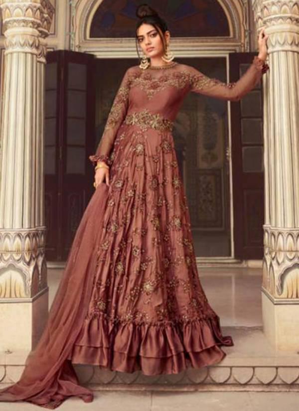 Sampann Saga Badla Net Sequins Work Heavy Designer Salwar Suits Collection