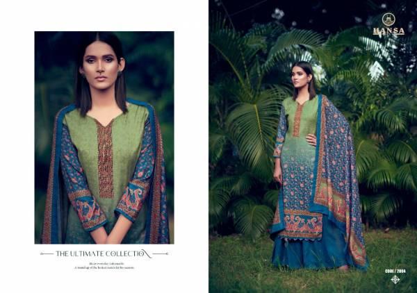 Hansa Hidaya Samaira Pashmina Digital Print With Hand Work Palazzo Suits Collection