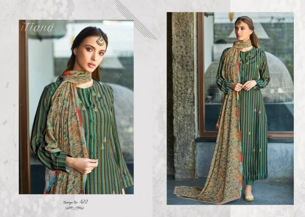 Itrana Hazel Beauty Series 410-458 Cotton Satin Digital Printed With Embroidery Work New Designer Salwar Suits Collection