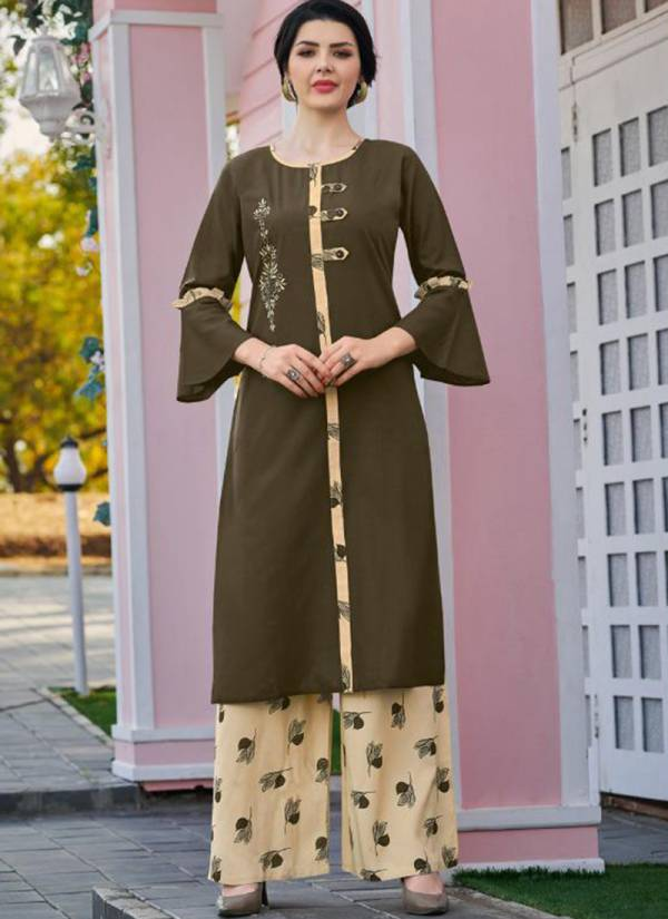 Poonam Designer Silai Vol 3 Series 3001-3006 Pure Rayon With Fancy Embroidery Work Kurti With Palazzo Collection