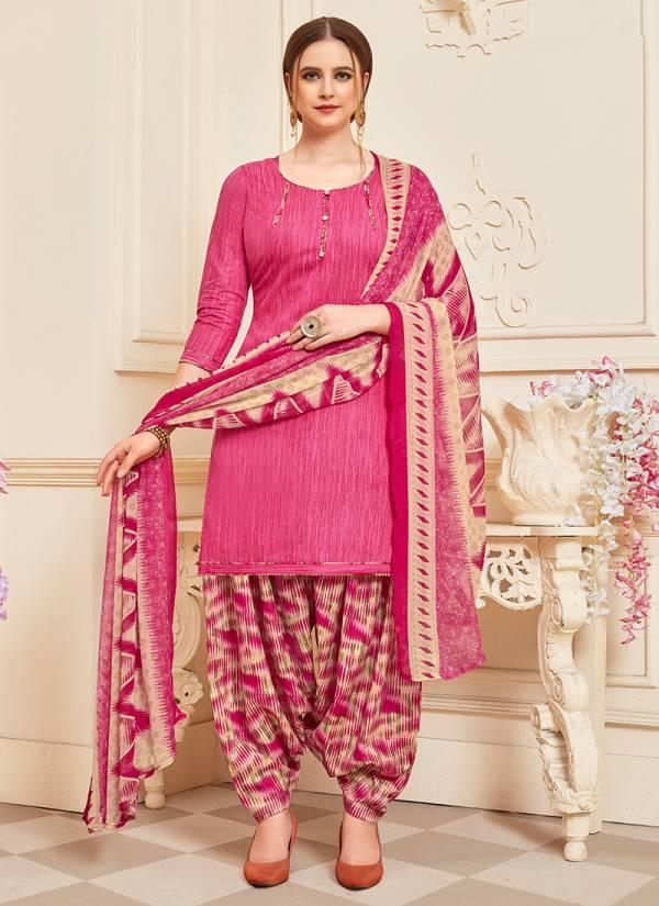 Sai Trendz Supererior Patiyala Cotton With Designer Printed Casual Wear Palatial Suits Collectiion