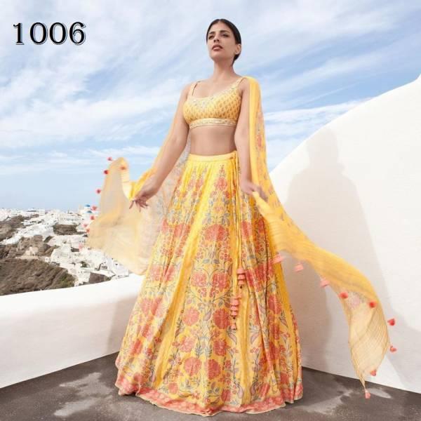 An Bazaar Anita Series 1001-1006 Pure Killer Silk With Designer Embroidery Work Wedding Wear Lehenga Choli Collection