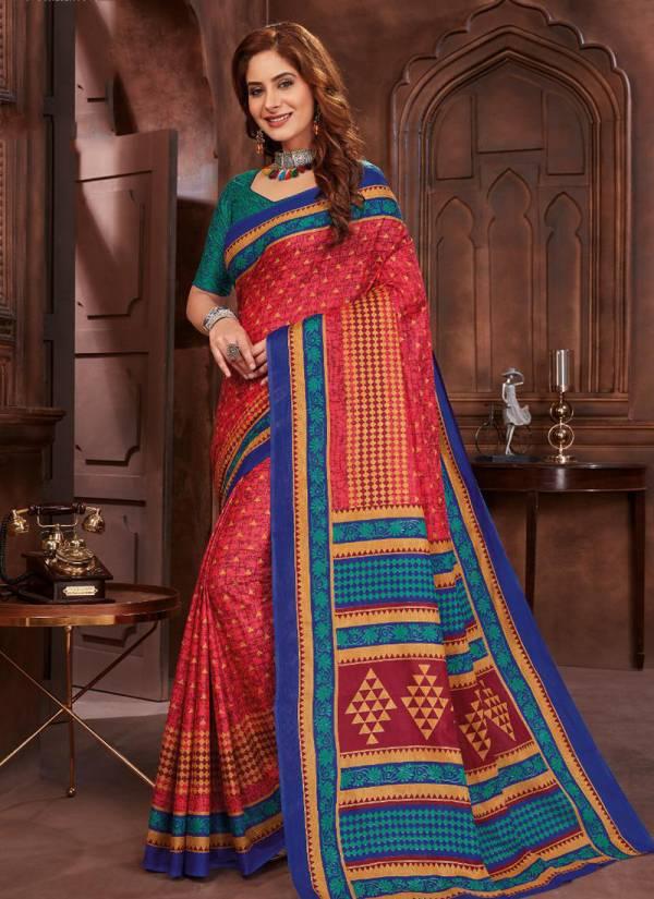 JK Cotton Tulsi Vol 5 Pure Cotton Designer Fancy Printed Regular Wear Sarees Collection