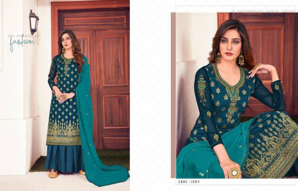 Rinaz Rinaaz Series 1001-1006 Meenakari Jacquard With Embroidery & Hand Work Festival Wear Palazzo Suits Collection