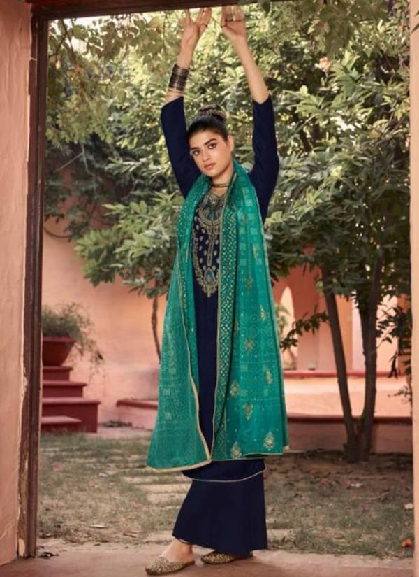 Maisha Swaragini Series 39003-39006 Georgette Heavy Embroidery Work With Beautiful Swarovski Work Heavy Palazzo Suits Collection