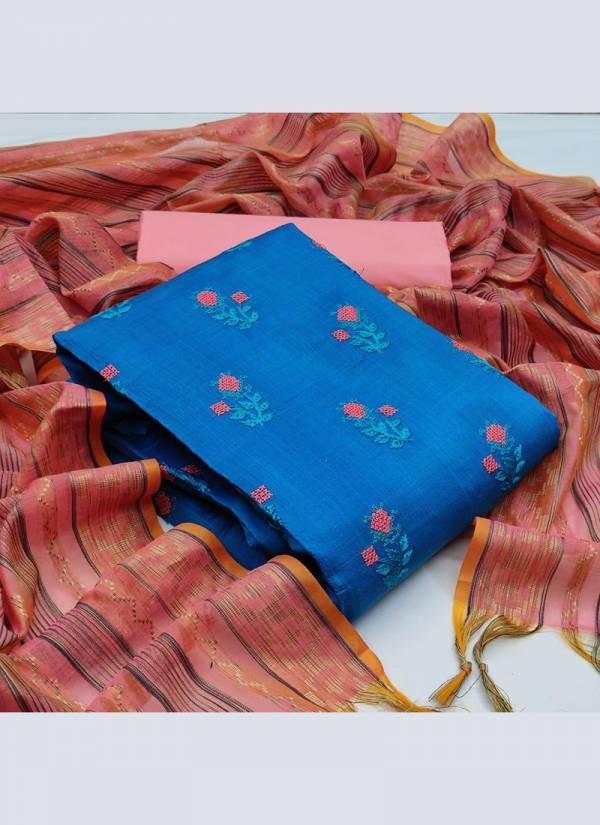 Shree Bhairav Suits Banarasi Cotton Fancy Embroidered Work Regular Wear Designer Salwar Suits Collection