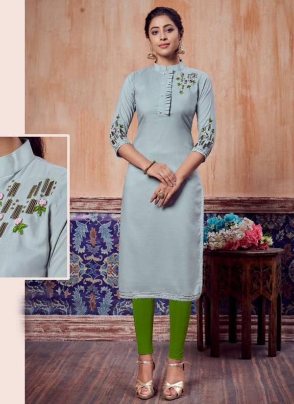 Vitara Fashion Carnival Series 1001VC-1006VC Heavy Muslin With Stylish Look Hand Work Festival Wear Kurti Collection