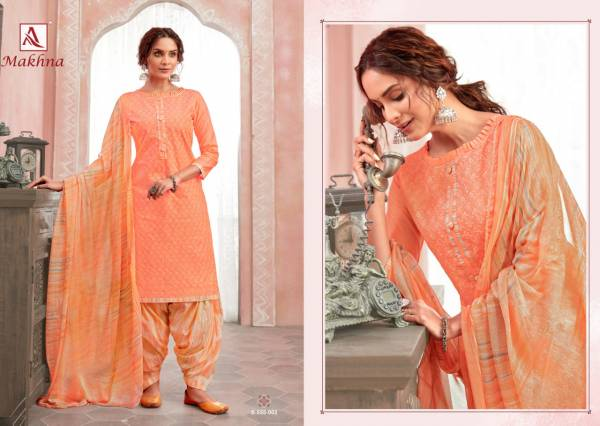 Alok Makhna Pure Cotton Chikan Work Patiyala Suits Collection
