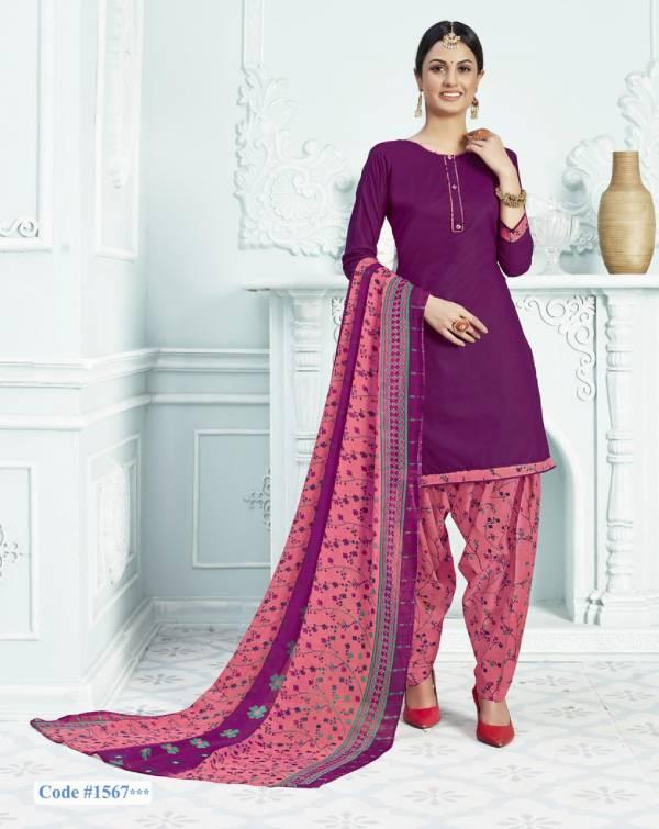 Shree Gurukrupa Dresses Paradesi Cotton Printed Regular wear Designer Patiyala Suit Collection