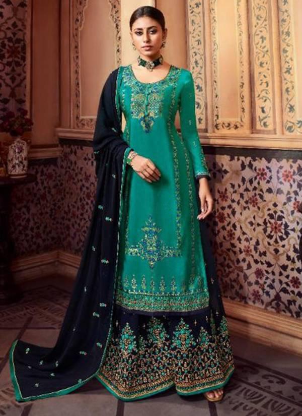 Aarav Trendz Miraya Vol 11 Series 282-286 Meenakari Jacquard With Hand Work New Designer Palazzo Suits Collection