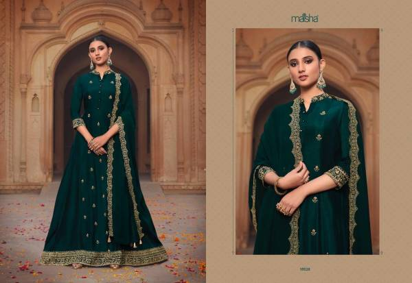 Maisha Maskeen Pura Russian Silk Embroidery And Khatli Work Festival Wear Designer Salwar Suits Collection